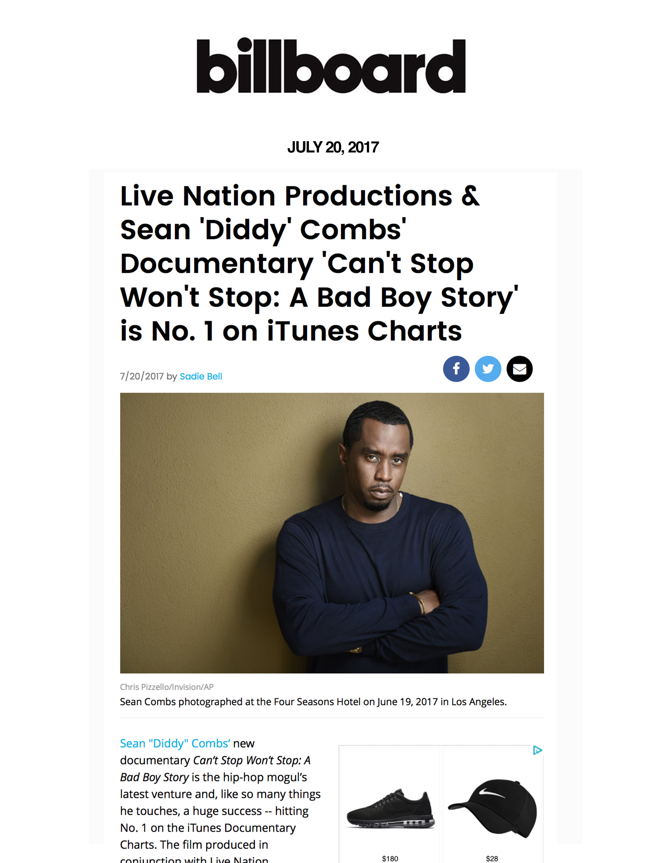 Combs Enterprises | Live Nation Productions & Sean 'Diddy' Combs