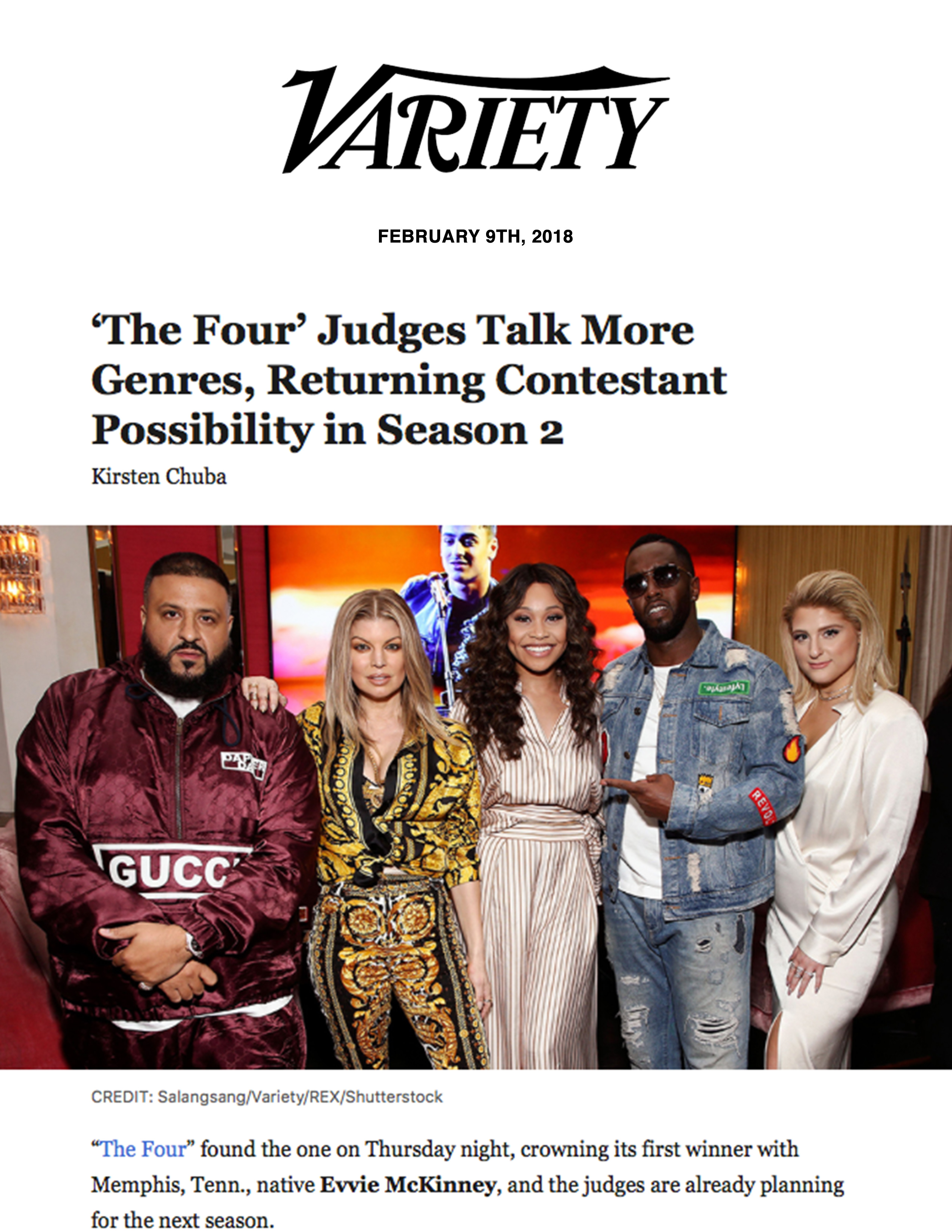 'The Four' Judges Talk More Genres, Returning Contestant Possibility in Season 2