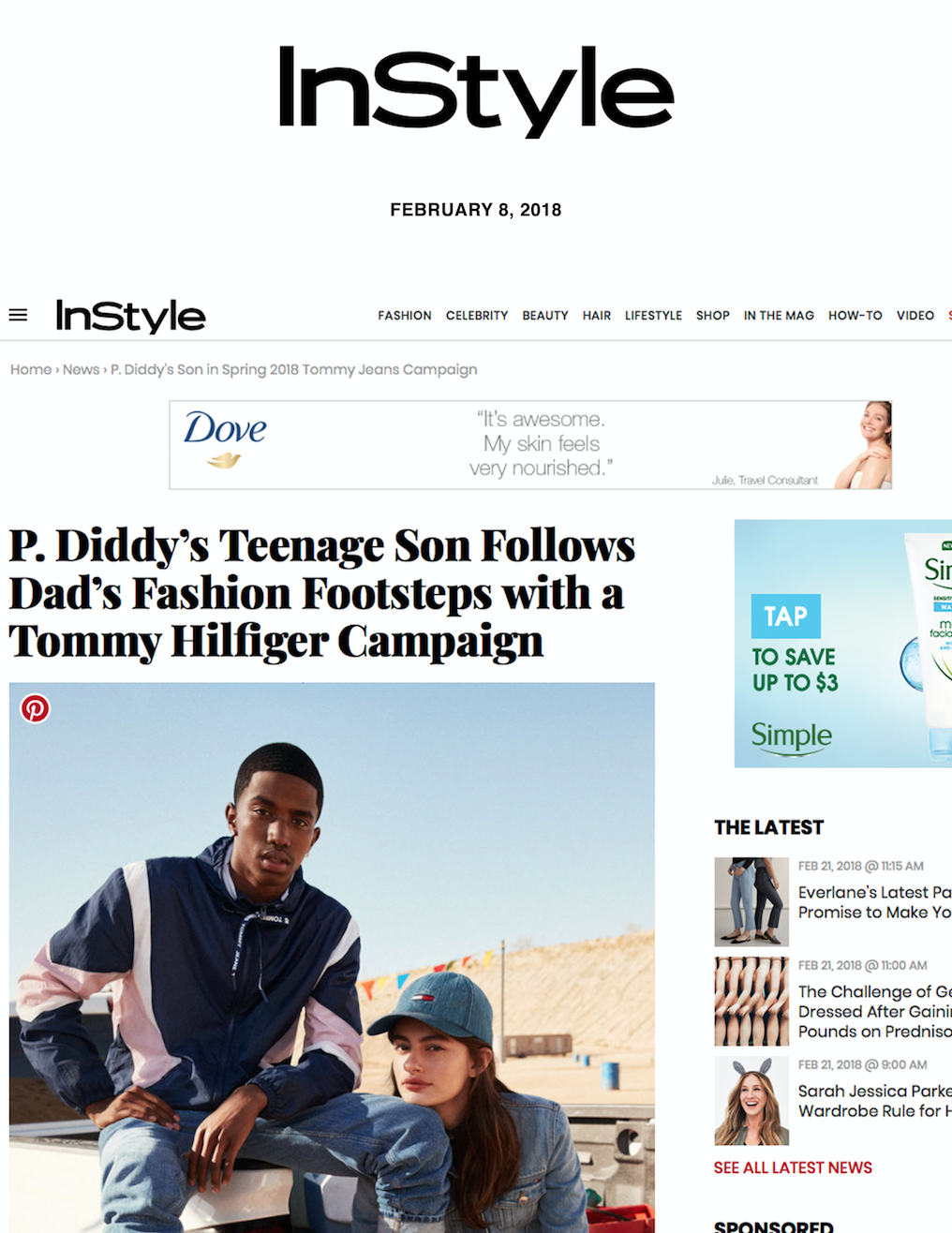 P. Diddy's Teenage Son Follows Dad's Fashion Footsteps with a Tommy Hilfiger Campaign